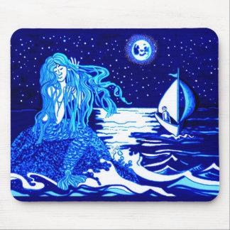 Luna de la sirena y del marinero tapetes de ratones