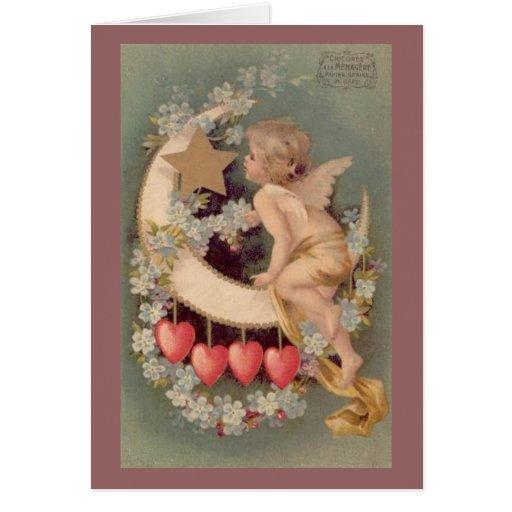 Luna de la tarjeta del día de San Valentín - tarje
