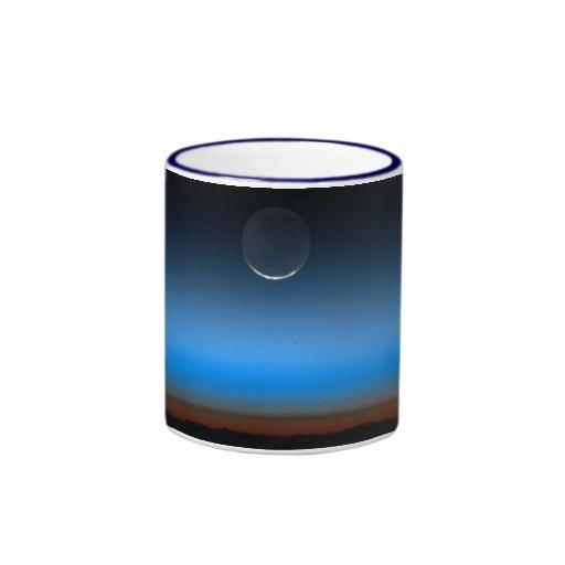 Luna de la taza de cerámica del espacio
