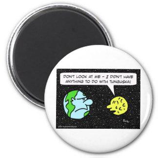 luna de la tierra del meteorito del tunguska imán redondo 5 cm