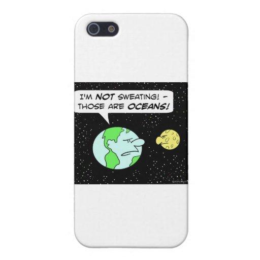 luna de la tierra que suda los océanos iPhone 5 cobertura