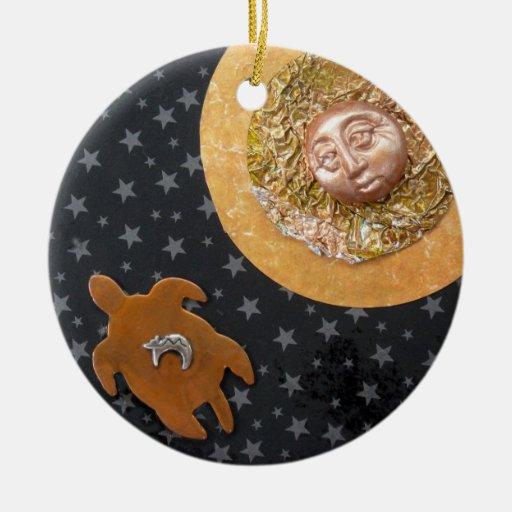 Luna de la tortuga - collage adornos de navidad