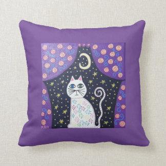 Luna de la ventana del gato de la almohada del cojín decorativo