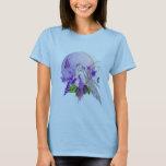 Luna de la violeta dulce playera