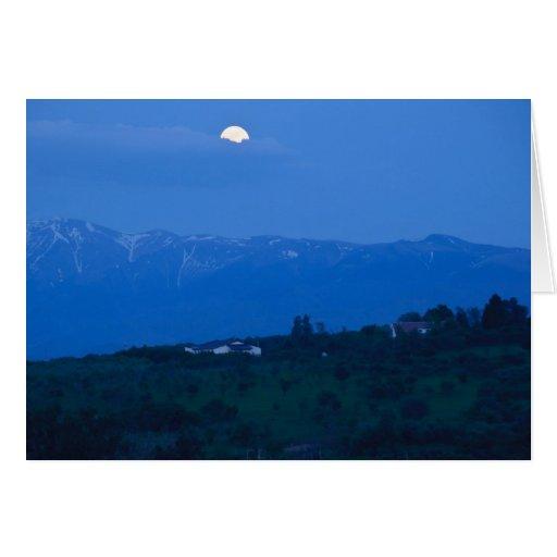Luna de las buenas noches tarjetón