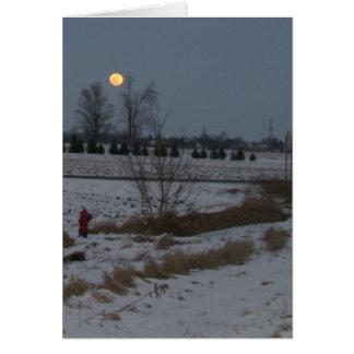 Luna de levantamiento felicitación