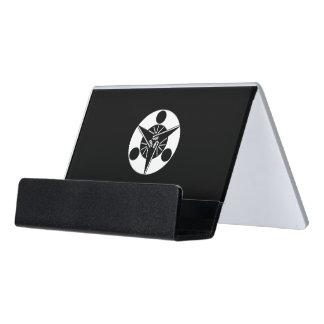 Luna de levantamiento tres en fans caja de tarjetas de visita para escritorio
