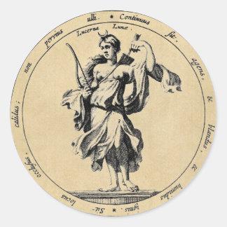 Luna de Luna de la diosa Pegatinas