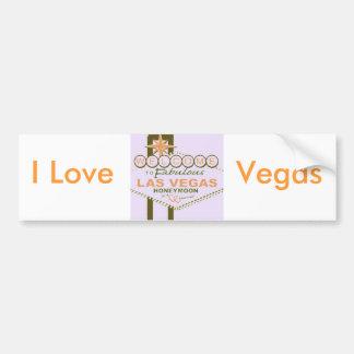 Luna de miel de Las Vegas Pegatina Para Auto