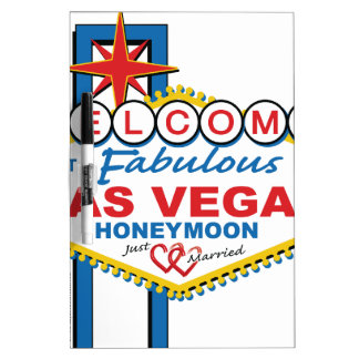 Luna de miel de Las Vegas retra Pizarra