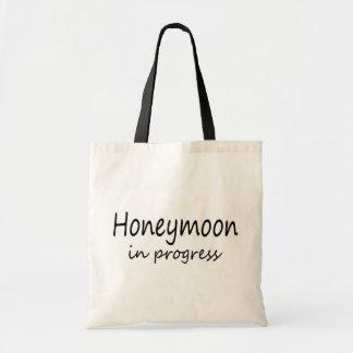Luna de miel en curso bolsa tela barata