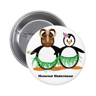 Luna de miel hawaiana pin redondo de 2 pulgadas