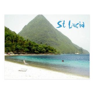 luna de miel, St Lucia Tarjetas Postales