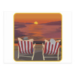 Luna de miel tropical de relajación tarjeta postal