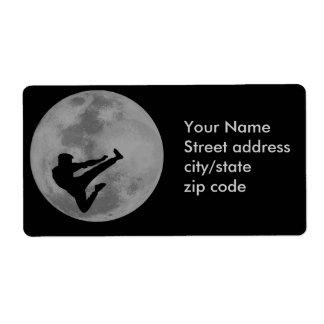 Luna de Ninja de los artes marciales Etiqueta De Envío