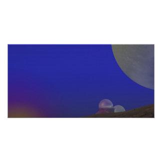 Luna de oro tarjeta fotográfica