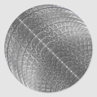 Luna de plata de la nieve etiquetas redondas