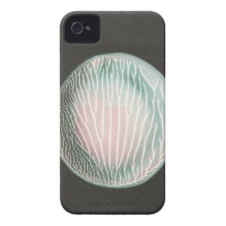 Luna de plata en la caja negra del iPhone iPhone 4 Carcasas