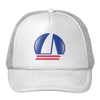 Luna de Sailing_Pontoon Racing_Blue del catamarán Gorros