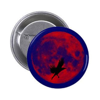 Luna de sangre cuervo blood moon raven pin redondo 5 cm
