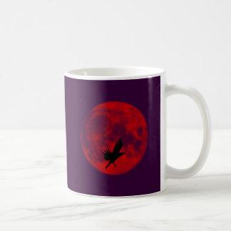 Luna de sangre cuervo blood moon raven tazas