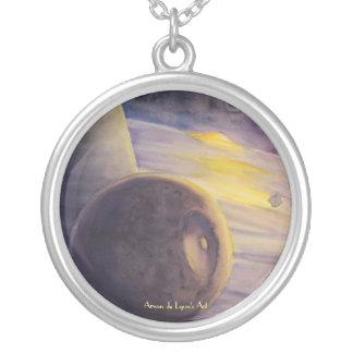 Luna de Saturn Colgante Redondo