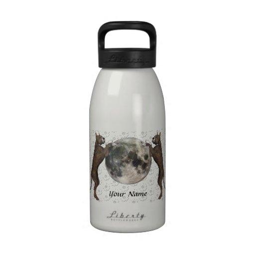Luna de Staffordshire Terrier Botella De Agua