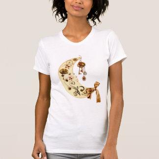 Luna de Steampunk de la fantasía Tshirt