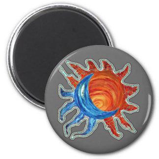 Luna de Sun N Imán Redondo 5 Cm