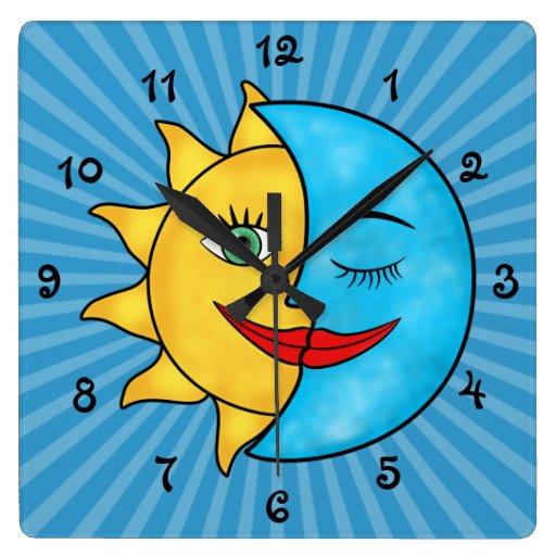 Luna de Sun Reloj