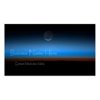Luna de tarjetas de visita del espacio