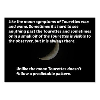 Luna de Tourettes Tarjetas De Visita Grandes