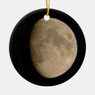luna adorno redondo de cerámica