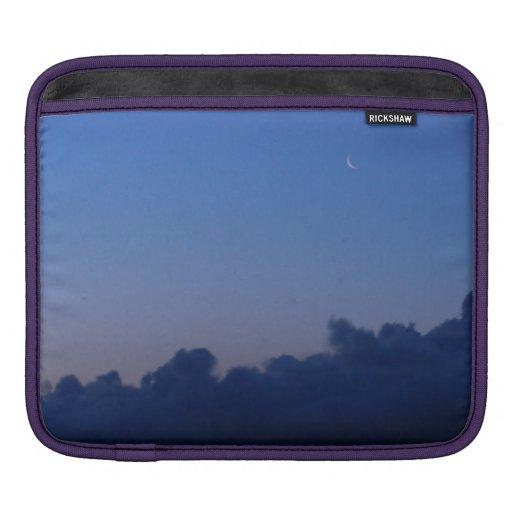 Luna del ajuste en la salida del sol funda para iPads