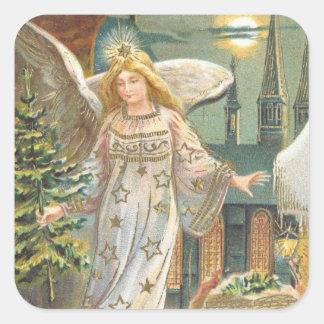 Luna del árbol de la iglesia del ángel del colcomania cuadrada