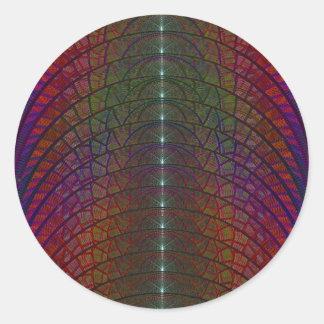 Luna del arco iris de la mora pegatina redonda