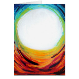 luna del arco iris tarjeta pequeña