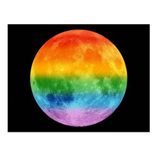 Luna del arco iris postal