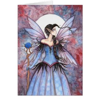 Luna del arte de hadas místico de la fantasía del tarjeta de felicitación