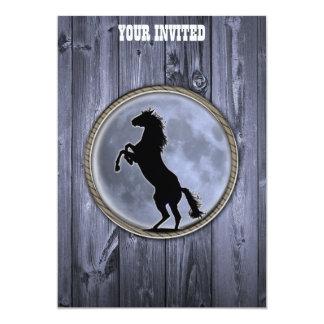 """Luna del caballo salvaje invitación 5"""" x 7"""""""