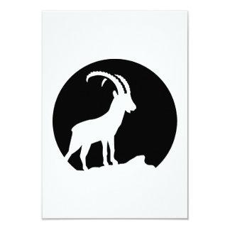 """Luna del cabra montés invitación 3.5"""" x 5"""""""