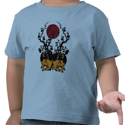 Luna del camaleón camisetas