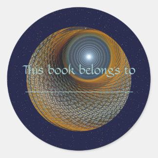 Luna del castor del sasafrás pegatina redonda