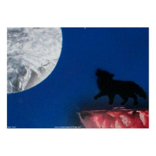 luna del coyote pequeña tarjetas de visita grandes
