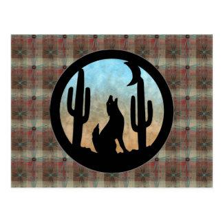 Luna del coyote tarjeta postal
