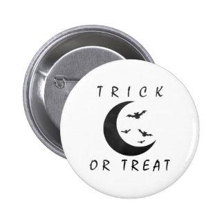 Luna del creciente de los palos de Halloween del t Pins