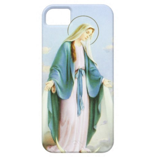 Luna del creciente del Virgen María Funda Para iPhone SE/5/5s