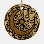 Luna del creciente del zodiaco adornos de navidad