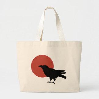 Luna del cuervo bolsa de tela grande