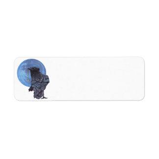 Luna del cuervo etiqueta de remite
